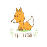 Card with fox. Stock Images