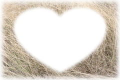 Card frame form the dry grass picture. Horizontal and for background texture stock photography