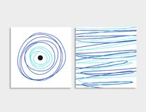 Card front and back with blue evil eye vector Stock Photography