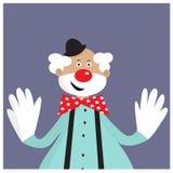 Card with funny clown. EPS 10 Stock Photos