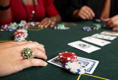 Card gambling Stock Images