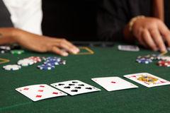 Card gambling Royalty Free Stock Photo