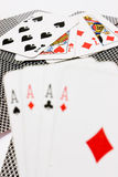Card game. Four ace. luck Royalty Free Stock Images