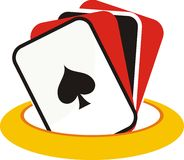 Card Game Betting. Logo for card gaming / betting related industries Royalty Free Stock Photos