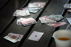 Card game in session Royalty Free Stock Images
