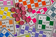 Card Game. A Card Game; Tombola Bingo Stock Photography