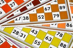 Card Game. A Card Game; Tombola Bingo Stock Photos
