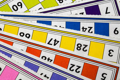 Card Game. A Card Game; Tombola Bingo Royalty Free Stock Images