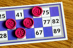 Card Game. A Card Game; Tombola Bingo Stock Images