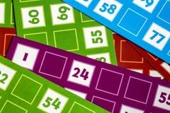 Card Game. A Card Game; Tombola Bingo Royalty Free Stock Photos