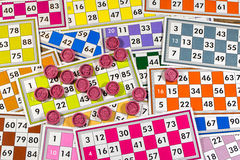 Card Game. Tombola And Bingo Royalty Free Stock Photo