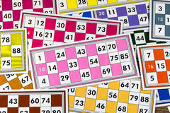 Card Game. Tombola And Bingo Royalty Free Stock Images