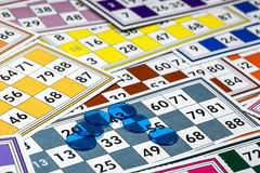 Card Game. Tombola And Bingo Royalty Free Stock Photography