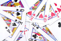 Card games. Close up for background Royalty Free Stock Image