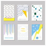 Card with geometric and abstract elements Royalty Free Stock Photography