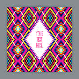 Card with geometric pattern - 2 Royalty Free Stock Images
