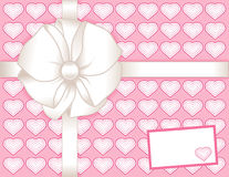 card gift hearts pink present 向量例证