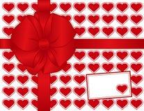 card gift hearts present red Στοκ εικόνες με δικαίωμα ελεύθερης χρήσης