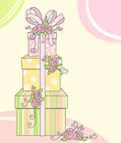 Card with gifts Royalty Free Stock Photo