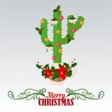 Card glad jul och det lyckliga nya året Arkivfoto