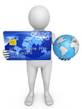 Card and globe Stock Photography