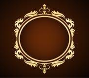 Card. Gold frame - victorian stile card Royalty Free Stock Photos
