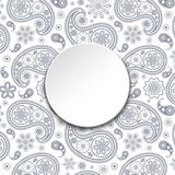 Card with gray paisley Stock Photography
