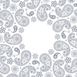 Card with gray paisley Royalty Free Stock Images