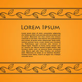 Card with greek ornaments and place for text Stock Photos
