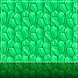 Card with Green Abstract Geometric Pattern Stock Photo