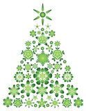 Card with green christmas tree Royalty Free Stock Photography