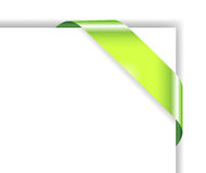Card with green ribbon Royalty Free Stock Images