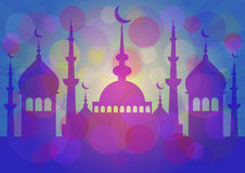 Card for greeting with beginning of fasting month Ramadan Stock Photos