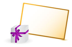 Card for greeting with box Royalty Free Stock Photo
