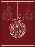 Card greeting with Christmas balls Stock Image