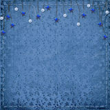Card for greeting or congratulation. On the blue floral background Royalty Free Stock Photography