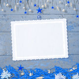 Card for greeting or congratulation. On the abstract background Royalty Free Stock Photo