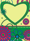 Card greeting with heart Royalty Free Stock Photos