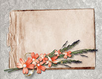 Card for greeting or invitation. On the vintage background Stock Photo