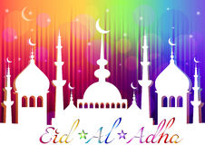 Card for greeting with Islam feast Eid al-Adha Royalty Free Stock Image
