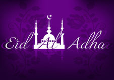 Card for greeting with Islamic feast Eid al-Adha Royalty Free Stock Image