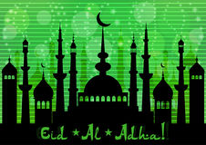 Card for greeting with Islamic feasts Stock Photos