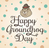 Card for Groundhog Day Stock Image
