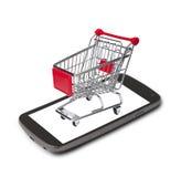 card grund shopping för dof-fokushanden online mycket Royaltyfri Fotografi