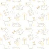 card grund shopping för dof-fokushanden online mycket Royaltyfri Bild