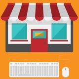card grund shopping för dof-fokushanden online mycket Arkivfoto