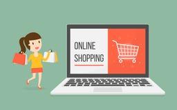 card grund shopping för dof-fokushanden online mycket Royaltyfria Foton