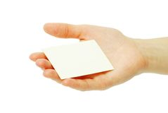 Card in hand Stock Photos