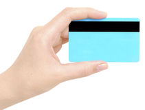 Card in a hand Royalty Free Stock Images