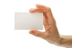 Card in hand Royalty Free Stock Image